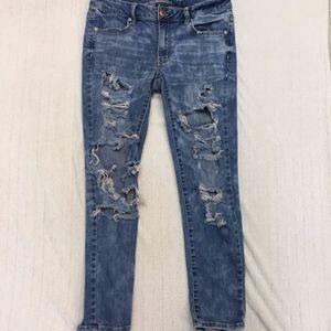 AMERICAN EAGLE super stretch jegging ankle jeans.